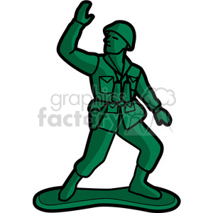 toy army soldier illustration graphic clipart. Royalty-free image # 398045