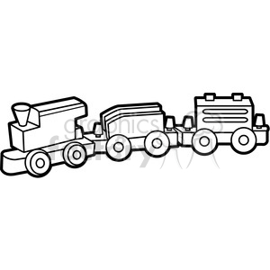 outline of toy wooden train illustration graphic clipart. Royalty-free image # 398055