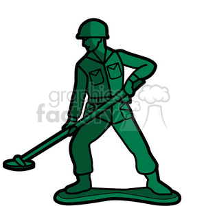 toy mine sweeper soldier illustration graphic
