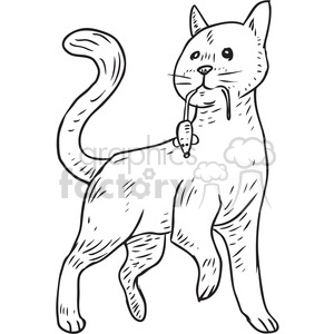 mouser cat vector illustration clipart. Commercial use image # 398085
