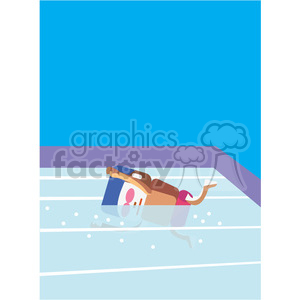 olympic swimmer sports character illustration clipart. Royalty-free image # 398135