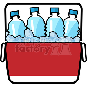 cooler full of ice cold water icon clipart. Royalty-free image # 398205
