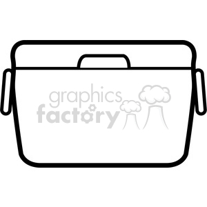 black and white cooler clipart. Royalty-free image # 398215
