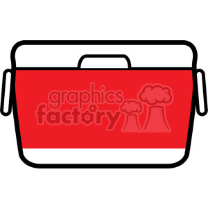 red cooler icon clipart. Royalty-free image # 398225