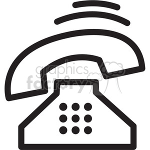 retro phone ringing icon clipart. Royalty-free icon # 398320
