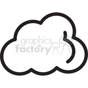 cloud icon clipart. Commercial use image # 398390