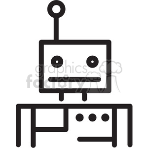 robot vector icon clipart. Commercial use image # 398410
