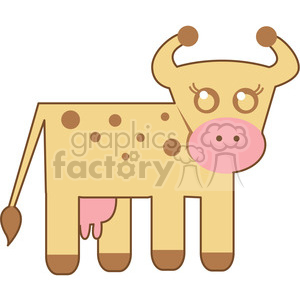 Cow vector image RF clip art clipart. Commercial use image # 398437