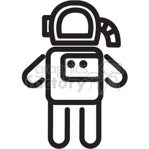 astronaut vector icon clipart. Commercial use image # 398487