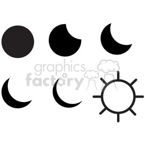 moon phases vector icon clipart. Commercial use image # 398497