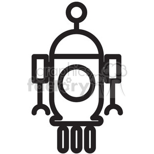 robot rover vector icon clipart. Commercial use image # 398507