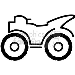 icons black+white outline vehicle transportation four+wheeler quad