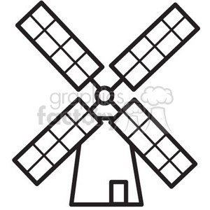 windmill vector icon clipart. Royalty-free image # 398547