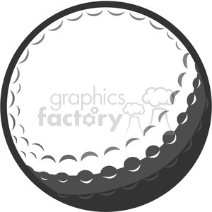 gray vector golf ball clipart. Royalty-free image # 398804