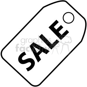 sale tag vector clipart. Commercial use image # 398836