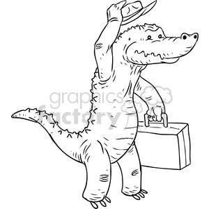 alligator salesman vector illustration clipart. Royalty-free image # 398866