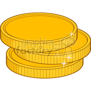 royalty free rf clipart illustration golden coins vector illustration isolated on white background clipart. Royalty-free image # 398915