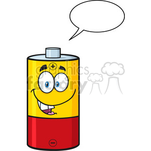 battery batteries energy power cartoon character