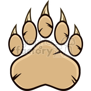 royalty free rf clipart illustration bear paw with claws vector illustration isolated on white background clipart. Royalty-free image # 398981