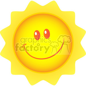 royalty free rf clipart illustration happy sun cartoon mascot character vector illustration isolated on white background clipart. Royalty-free image # 399320