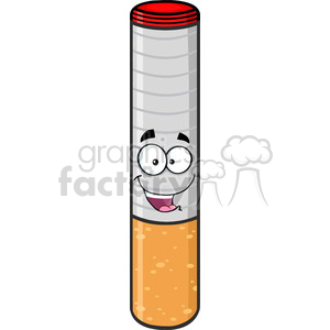royalty free rf clipart illustration happy electronic cigarette cartoon mascot character vector illustration isolated on white background clipart. Royalty-free image # 399674