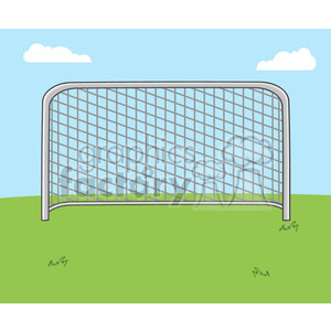soccer cartoon character goal net