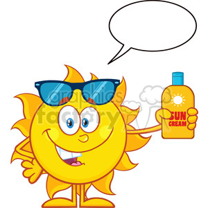 nature weather summer sun sunny cartoon sun+safety lotion sunscreen