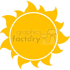 10258 yellow silhouette sun vector illustration isolated on white background clipart. Royalty-free image # 399995
