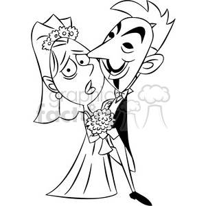 black and white vector clipart image of anonymous wedding clipart. Royalty-free image # 400330
