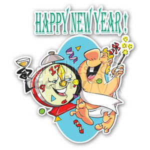 happy new year sticker clipart. Commercial use image # 400358