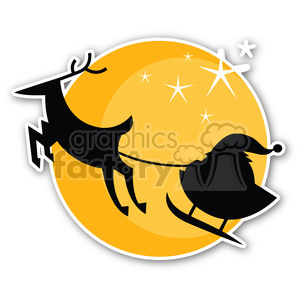 christmas moon sticker clipart. Royalty-free image # 400378