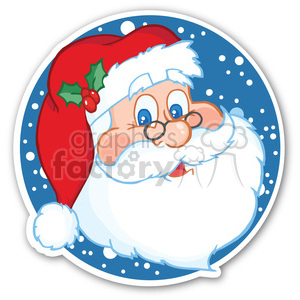 santa with snow sticker clipart. Royalty-free image # 400438