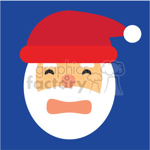 santa head scared icon vector art clipart. Royalty-free image # 400502