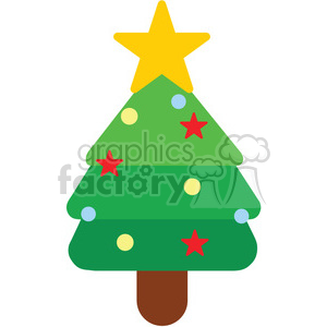 christmas tree icon vector art clipart. Royalty-free image # 400532