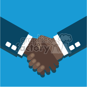 hand shake partner agreement african american flat design vector art clipart. Commercial use image # 400632