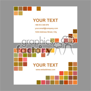 vector business card template set 037 clipart. Commercial use image # 401931