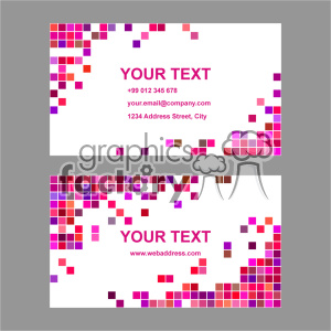 vector business card template set 048 clipart. Royalty-free image # 401936