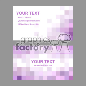 vector business card template set 006 clipart. Commercial use image # 401941