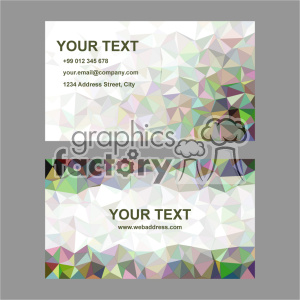 vector business card template set 026 clipart. Royalty-free image # 401971