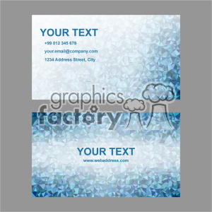 vector business card template set 017 clipart. Royalty-free image # 401976