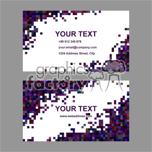 vector business card template set 041 clipart. Royalty-free image # 401991