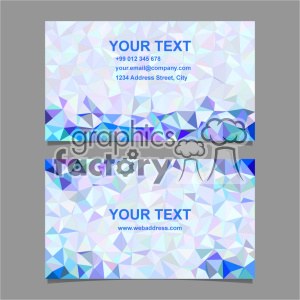 vector business card template set 068 clipart. Commercial use image # 402006