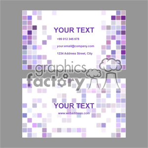 vector business card template set 035 clipart. Royalty-free image # 402011