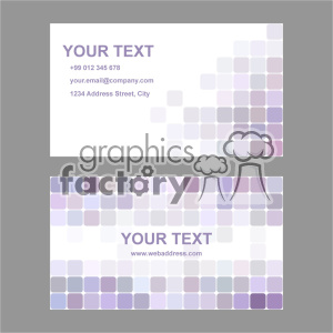 vector business card template set 001 clipart. Commercial use image # 402016