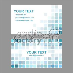 vector business card template set 004 clipart. Royalty-free image # 402021