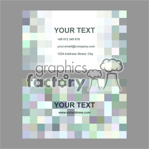 vector business card template set 031 clipart. Royalty-free image # 402026