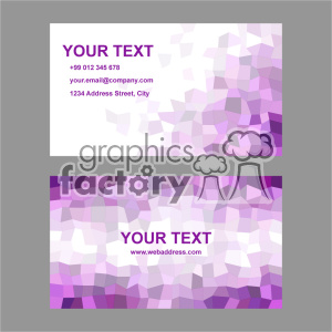 vector business card template set 012