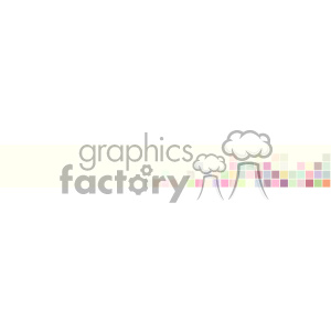 vector pastel small squares banner background