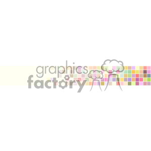 vector pastel small squares three quarter banner background clipart. Royalty-free image # 402091