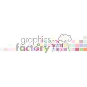 vector pastel small squares banner white background